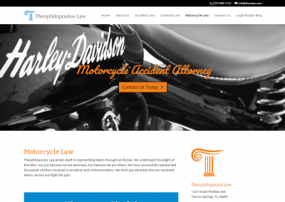 Theophilopoulos Law Biker Law Attorney Website web design, software development, application development, graphic design, online marketing, website building, digital marketing, web design tampa, web design florida, website design, website design tampa, information technology services, data migration, website hosting, fix websites, seo, search engine optimization