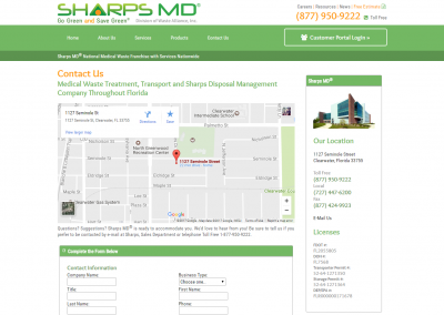 SharpsMD Medical Waste Disposal Company web design, software development, application development, graphic design, online marketing, website building, digital marketing, web design tampa, web design florida, website design, website design tampa, information technology services, data migration, website hosting, fix websites, seo, search engine optimization